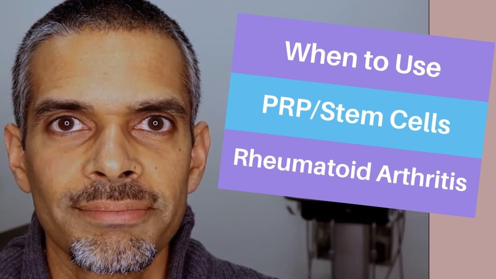 Rheumatoid arthritis treatment- when to use PRP and Stem cells.