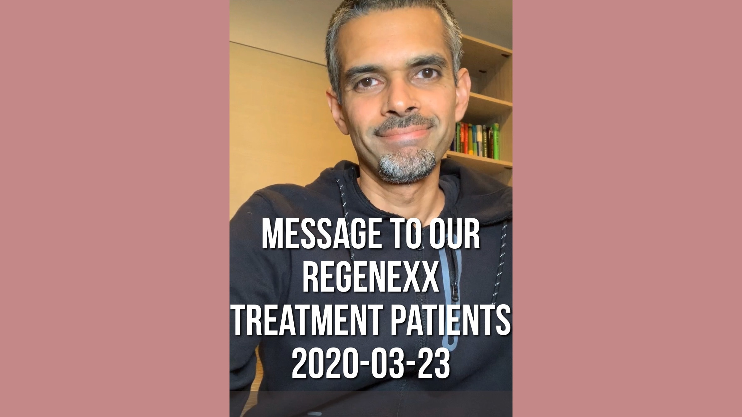 Corona update- Msg to our Regenexx/Regeneravtive medicine treatment patients- 20200323