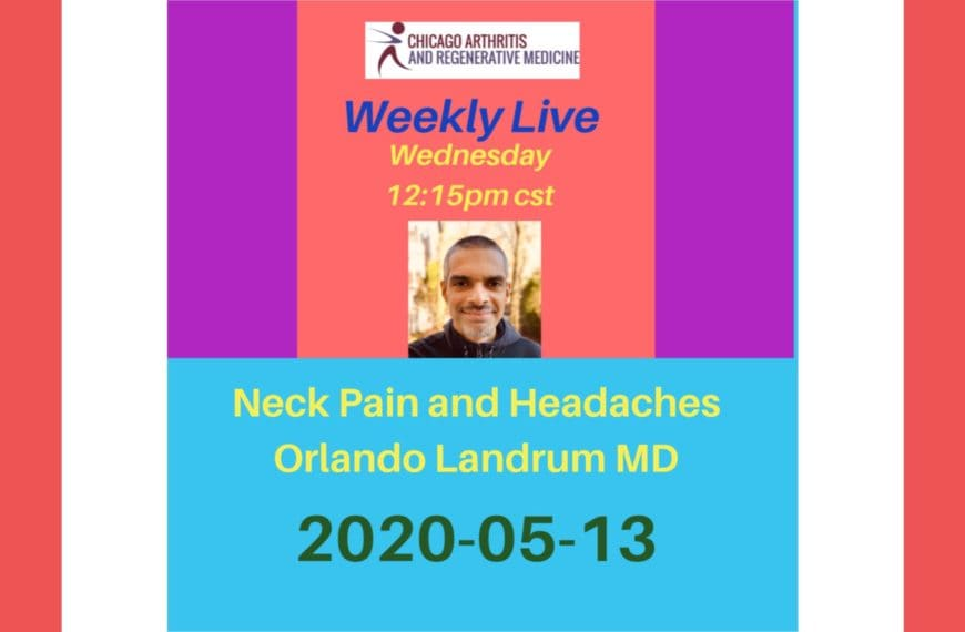 Upcoming Weekly Live- 20200513- Neck Pain and Headaches