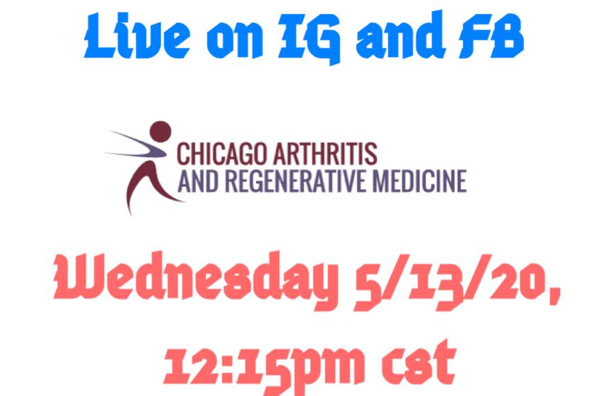 Weekly Live on IG and FB Wednesday 5/13/2020
