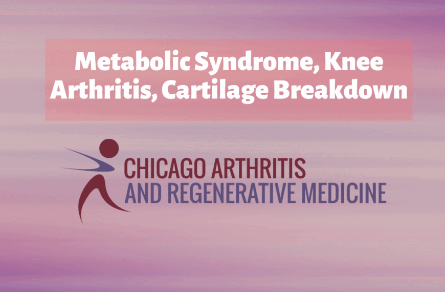 Metabolic Syndrome, Knee Osteoarthritis, Cartilage Degeneration