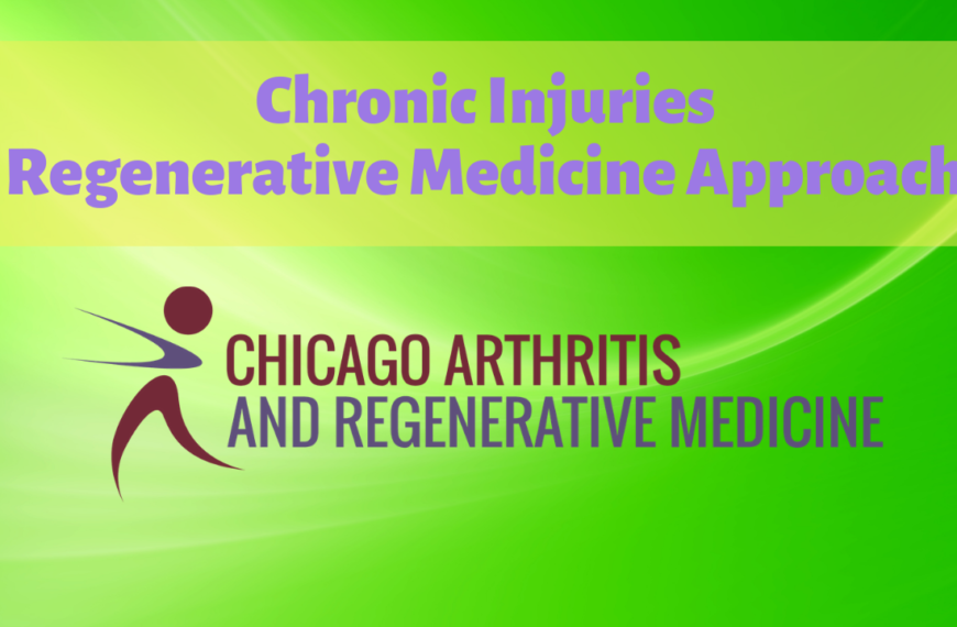How to treat Chronic Injuries- Regenerative Medicine approach