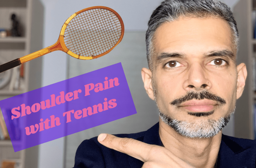 Why does my shoulder hurt when playing tennis?